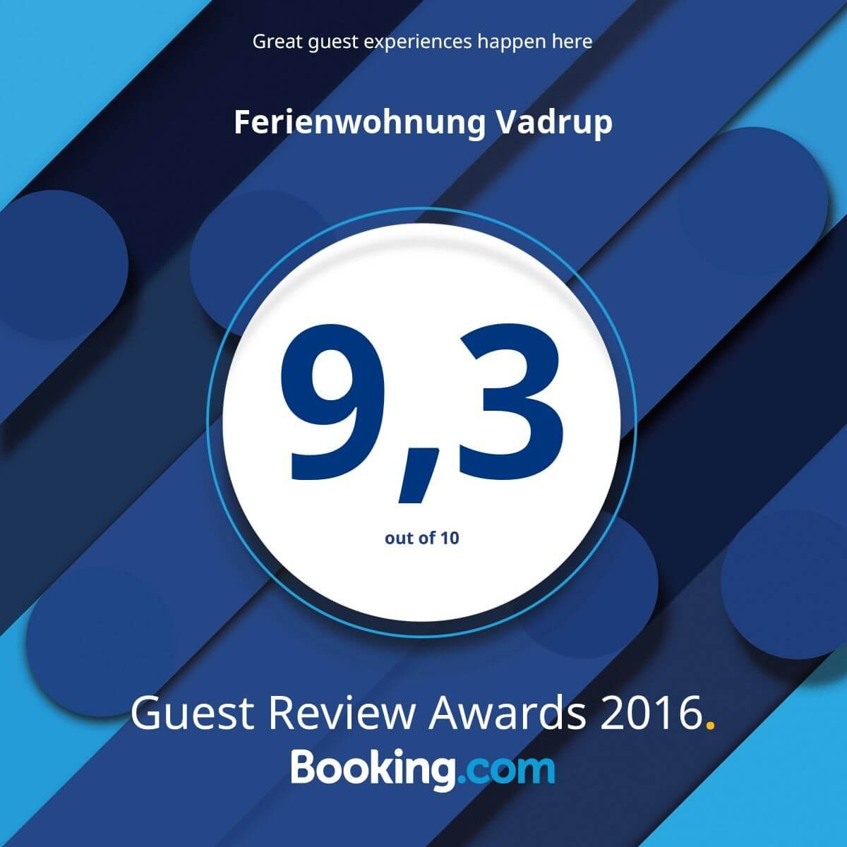 Ferienwohnung Vadrup (Tintrup) - Booking.com Guest Review Awards